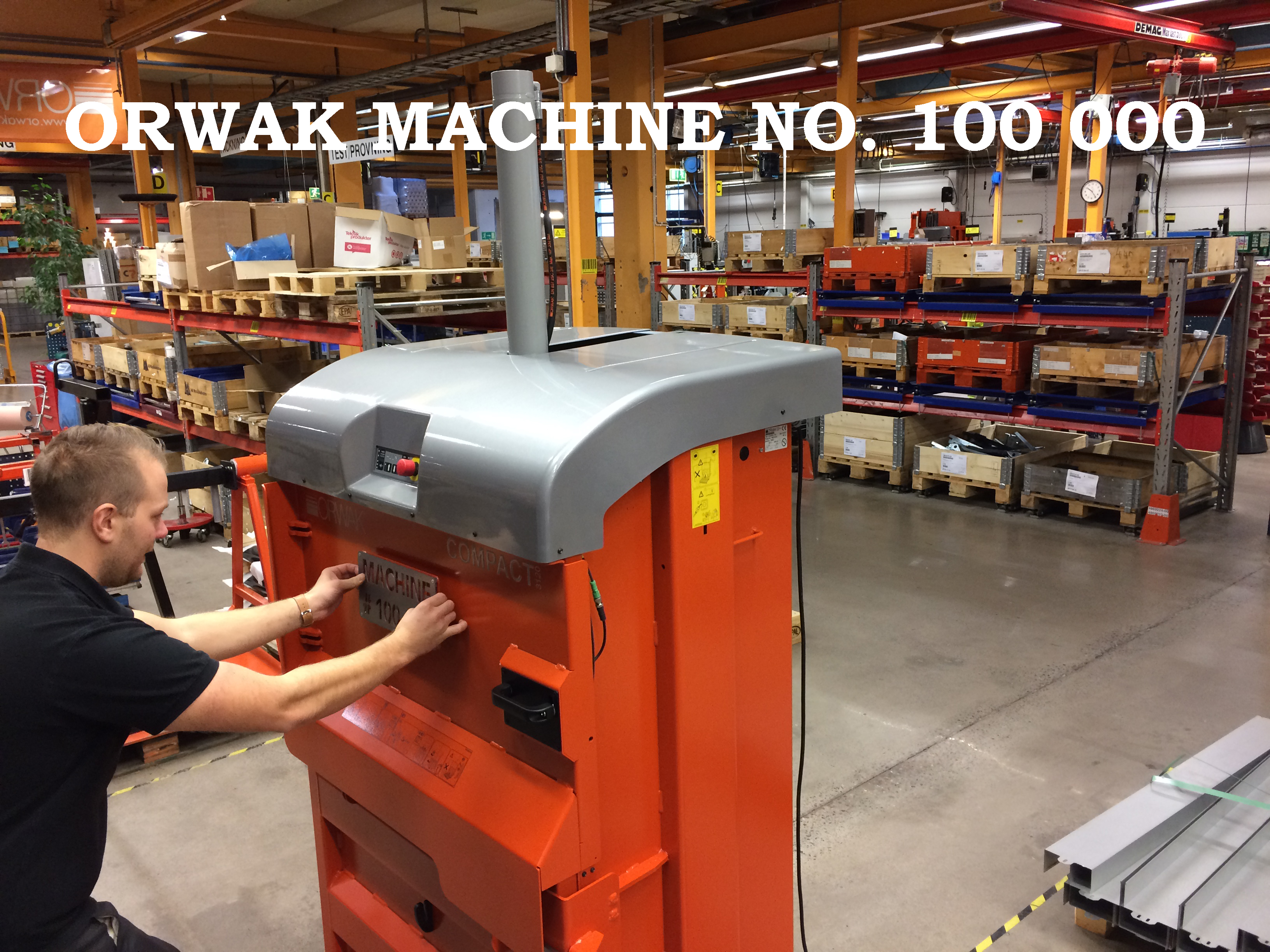 Machine no 100 000 being born text